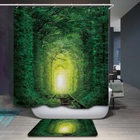 Wholesale tree bathroom decor for sale - Group buy New Design Polyester Waterproof Purple Heart Tree Scenic Shower Curtain Bathroom Curtain Hooks Decor Mildewproof Bath Curtain