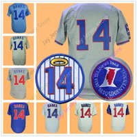 Wholesale vintage numbers - Ernie Banks Jersey with number 14 Retirement Patch 1968 1669 Vintage Retro Jerseys Home Away Cool Base Flexbase Pinstripe Baby Blue Cream