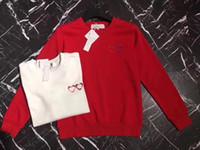 Wholesale heart sweater xl - PLA red heart 2018 sweatshirt Men women Hoodies Pullover Hip Hop man Hoodie sweatshirts sportswear sweaters blazer sports hoodies women men