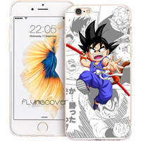 Wholesale iphone anime casing - Coque Anime Kid Goku Clear Soft TPU Silicone Phone Cover for iPhone X 7 8 Plus 5S 5 SE 6 6S Plus 5C 4S 4 iPod Touch 6 5 Cases.