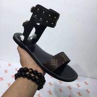 Wholesale free pictures prints - Hot Sale Designer Shoes Women Sandals Geunine Leather Formal Evening Designer Slides Summer Beach Women Shoes Free Shipping Real Picture