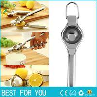 Wholesale metal lemon squeezer - Kitchen Bar Stainless Steel Fruit Lemon Orange Squeezer Juicer Hand Press Tool