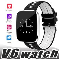 Wholesale led bluetooth bracelets online – V6 Smart Wacth Bluetooth LED Heart Rate Monitor Fitness Tracker Bracelet Smart Sports Wrist Watch Bracelet Sport Watches for ios Android