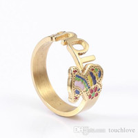 Wholesale Ladies Jewelry Rings - TL stainless steel ring gold and silver plated for girl and lady new design bear jewelry