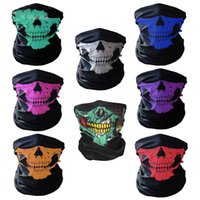 Wholesale polyester bandana for sale - Group buy Skull Face Mask Halloween Skull Bandana Bike Helmet Headscarf Neck Face Mask Scarves Cycling Headband Scarf colors C4880