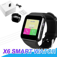 Wholesale smart phone watch sim slot resale online - X6 Smartwatch Curved Screen Bluetooth Smart Watch Phone With SIM TF Card Slot Camera For Android Sport Wrist Watch With Retail Box