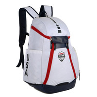 Wholesale usa laptops online - 2018 New USA Team Backpack Basketball Backpack For School Bag Teenagers Boys Laptop Bag Outdoor Packs Man Schoolbag USA Elite Bags
