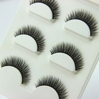 Wholesale super long synthetic hair for sale - Group buy 45Pairs D Cross Thick False Eye Lashes Extension Makeup Super Natural Long Fake Eyelashes New