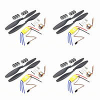 Wholesale quadcopter brushless - Aerops 4pcs xxd a2212 2212 1000kv brushless motor + 4pcs XXD 30a brushless esc + 4pairs 1045 propellers for F450 F550 multiroto quadcopter