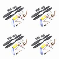 Wholesale esc for brushless motor - Aerops 4pcs xxd a2212 2212 1000kv brushless motor + 4pcs XXD 30a brushless esc + 4pairs 1045 propellers for F450 F550 multiroto quadcopter