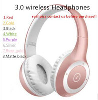 Wholesale Branded Stock - BRAND 8colors in stock 3.0 wireless headphones headband over ear headsets bluetooth DJ HQ ROSE GOLD 3.0 Headphones SO3 on ear earphones