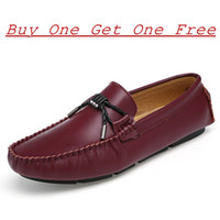 Wholesale korean style office dress - Korean Style Fashion Handmade Men Flat Loafer Soft 100% Genuine Leather Casual Mens Dress Shoes Slip-on Men Business Shoes Non-slip Oxford