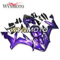 yamaha yzf kaplama kiti mor toptan satış-Yamaha YZF1000 R1 Yıl 2004 Için Motosiklet Kaporta Kiti Mor ABS Enjeksiyon Kaporta - 2006 Komple Fairing Seti Vücut Kiti Cowling