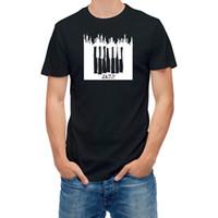 fã de jazz venda por atacado-T camisa Jazz Música Caneta Esboço Da Cidade de Piano T24948 Trump suor sporter metallica fã calças t-shirt