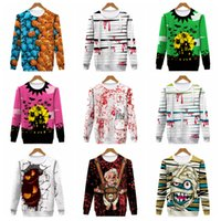 Wholesale wholesale sports clothes online - 10styles Halloween cartoon printed hoodies round neck Novelty Hoodies Sweatshirts Cosplay Pullover costume sport long sleeve clothes FFA889