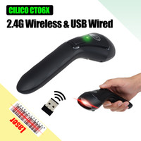 Wholesale hold code - CILICO 2.4G Wireless Wired Barcode Scanner USB 1D Automatic Reader Hand-held UPC EAN Codabar Rechargeable Bar Code Scan Gun CT60