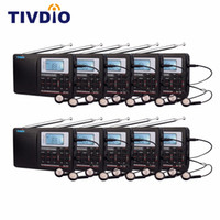Wholesale best radio receiver resale online - 10pcs TIVDIO V Best DSP FM Radio Stereo MW SW Radio Multiband World Receiver with Clock Alarm F9201A