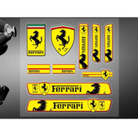 Wholesale car ferrari online - Car stickers high quality Vinyl decals racing motor sports logo for Ferrari