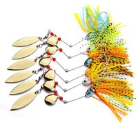 Wholesale lure bait types online - Composite Sequins Soft Fishing Lures Lively Tassels Beard Metal Artificial Bait Strong Noise Type Multi Color sb WW