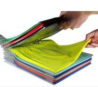 рубашки оптовых-Творческий Многофункциональный Стеллаж Для Хранения Одежды System File Shelf Divider Organizer Ezstax Футболка Держатели Папки Хранения 10 5cc KK