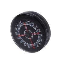 ingrosso pulsante mini bussola-New Portable Mini Oiling Survival Button Compass Escursioni Campeggio Pratico Guider