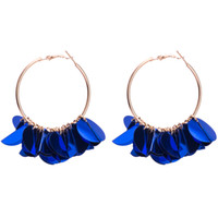 Wholesale Sequins Earrings - Sequins drop Earrings for women Luxury boho personality Dangle earrings big round simple Vintage geometric fashion Jewelry wholesale 2018