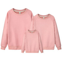 Wholesale Sweater Mother Daughter - New Family Matching Clothes Solid Mother Daughter Sweater Father Son Outfits Cotton Casual Long Sleeve Pullover Family Clothing