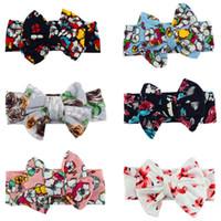 alta pajarita de algodón al por mayor-niños hairband Retro de alta calidad de algodón DIY pajarita bebé flor diadema 5 estilos oferta elegir
