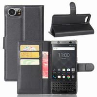 blackberry handy abdeckungen großhandel-Neuestes Telefon Fall Luxus Wallet Flip Handy Taschen Fall für BlackBerry Keyone DTEK70 Fall Abdeckung mit Kartenhalter Schutzhülle