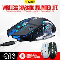 Wholesale Professional Game wireless mouse charging colorful luminous game mouse desktop notebook general hot sale USB