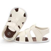 casual sandalen häkeln großhandel-Infant Kid Anti-Rutsch-Sandalen Schuhe Baby Häkelschuhe Sommer Fashion Design Sandalen für kleine Jungen Einfarbig Freizeitschuhe