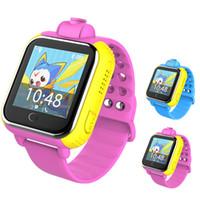 мобильный телефон с сенсорным экраном оптовых-Q730 дети Smartwatches дети сенсорный экран смарт-часы смарт-часы для Android ISO сотовый телефон умный мобильный телефон часы