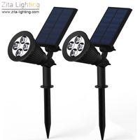 spot rgb ip65 al por mayor-Zita Lighting Solar LED Luz al aire libre LED Solar Power Spot RGB Jardín Césped Lámpara Focos de paisaje Paisaje Super brillante Lámpara de camino