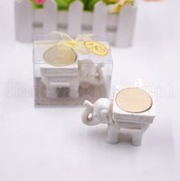 Wholesale candle holder elephant - Lucky Elephant Tea Light Candle Holder Party favor gift Elephant Candle Holder Tea Light Candlestick Home Decoration