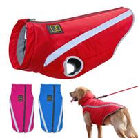 ingrosso gilet per cani per l'inverno-Vestiti per cani Cani di grossa taglia Cappotto invernale Impermeabile Animali domestici Abbigliamento per cani Canotta per cani di taglia media Bulldog Ropa Perro XL-6XL