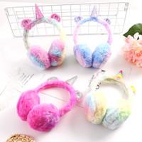 Wholesale infant ear muffs for sale - Group buy Newest Hot Winter cute infant children earmuffs unicorn earmuffs plush warm ear protection bag factory direct sales