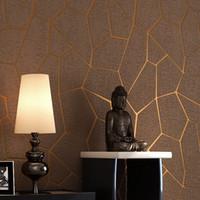 abstraktes sofa großhandel-Abstrakte Tapete Linie des Minimalismus 3d strömte moderne Geometrie-gestreifte Wandpapier-Wohnzimmer-Sofa-Hintergrund-Tapete-Dekor