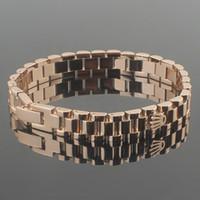 ingrosso braccialetto delle coppie-Bracciale in acciaio 316 acciaio al titanio bracciale da uomo e da donna in oro rosa 18 carati cinturino in oro con cinturino in acciaio inossidabile cinturino