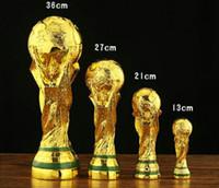 trofeos de resina al por mayor-2018 Copa del Mundo de Rusia Trofeo Trofeo Golden Resina Completa Artesanía Fútbol Trofeo Trofeo Decoración de recuerdo Trofeo