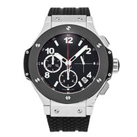 Wholesale mens watch black strap - Luxury mens watch automatic movement watch men F1 hot sale Luxury Brand Big Bang black face rubber original strap watch men wristwatches
