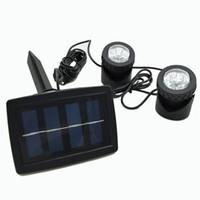 proyector solar led al por mayor-Proyector solar lámpara dual proyección LED anfibio submarino reflector submarino Lámparas solares