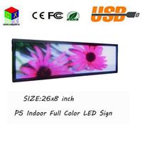 ingrosso segno di colore principale-Segni LED SMD a colori P5 per interni Supporto a scorrimento dei messaggi Supporto in qualsiasi lingua