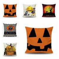 Wholesale animal furniture resale online - Halloween linen pillowcase new fashion Halloween D animal pattern funny owl pumpkin car cushion furniture pillowcase