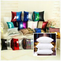 Wholesale Sequins Pillow Case With Insert Gradient Cover Mermaid Cushion Cover Magic Styles Cushion Paillette Cover Sofa Wedding Decor PP Insert