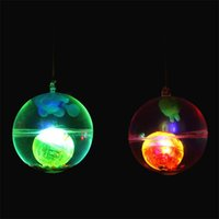 Wholesale flashing ball rope online - Luminescence Crystal Ball Elastic Force Flash Of Light With Rope Transparent Bouncy Ball Kid Toys Best Sellers zp W