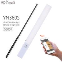 ingrosso yongnuo-YONGNUO YN360S Ultra-sottile palmare Ice Stick LED luce video 5500K luce di riempimento a mano Foto supporto Phone App controllo