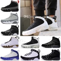 Wholesale blue statue - Cheap New 9 Basketball Shoes Men blue space Jam Anthracite Copper Statue Barons Suede Fabric 9s IX Spring Sports Tennis Mens Sneakers