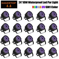 Wholesale Auto Watts - Discount Wholesales Price 20 Pack 24X18W LED DJ PAR Light 300 Watt DMX 512 Stage Lighting Disco Projector for Home Wedding Party Church