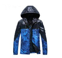 ingrosso giacca pubblicitaria-Nuovi uomini giacca cappotto con lettera erba stampa Luxury Designer Giacche giacca a vento con cappuccio AD con cappuccio manica lunga marchio uomo abbigliamento S-XXL