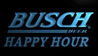 ingrosso busch neon segno-LS771-b-Busch Beer Happy Hour Bar 3D LED Neon Light Sign Personalizza su richiesta 8 colori tra cui scegliere